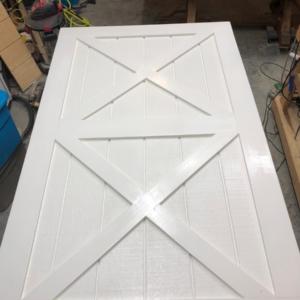 Double X sliding barn door.