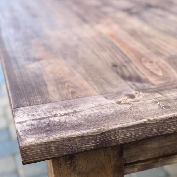 Top view of Kathleen farmhouse style table